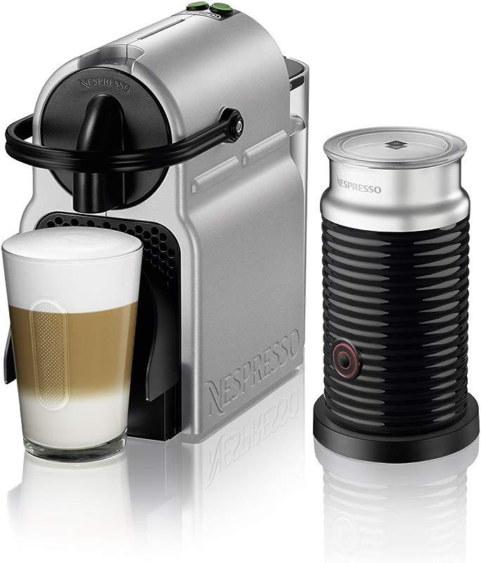 Nespresso By De Longhi EN80SAE Original Espresso Machine Bundle With Aeroccino Milk Frother Medium Silver