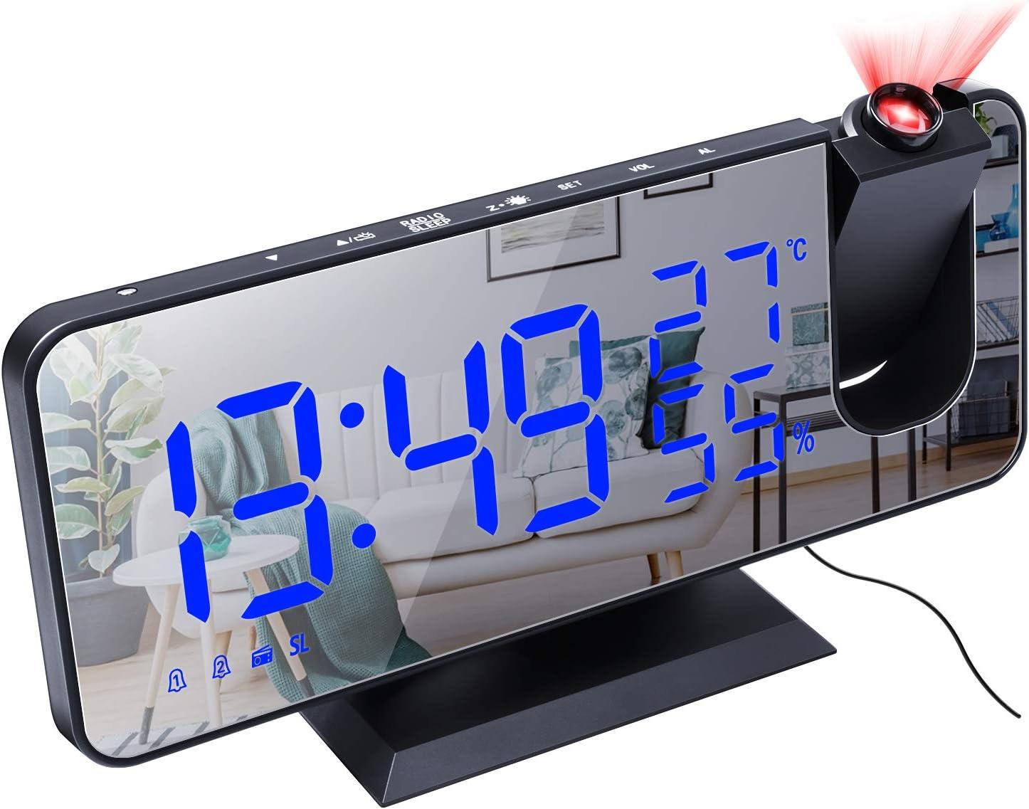 Projection Alarm Clock for Topics on TV Bedroom Max 40% OFF C Radio Digital Ceiling