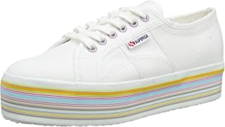 Superga 2790 Cotu Womens White Multicolour Trainers