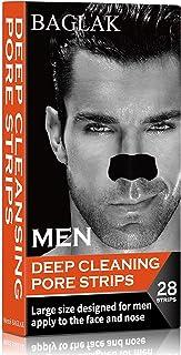 BAGLAK Blackhead Remover Pore Strips, 28 Men Charcoal Nose Strips for Blackhead Removal Oily Skin