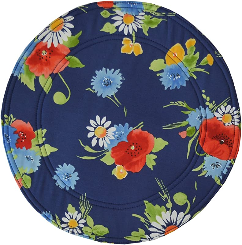 Sweet Pea Linens Dark Blue Floral Charger Center Round Placemat