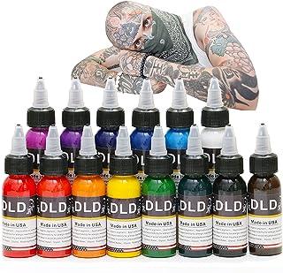 DLD Professionele tattoo-inkt, 14 kleuren, 14 kleuren, microblading pigmentset, 30 ml, fles, tattoo-inkt, pigmentkit voor ...