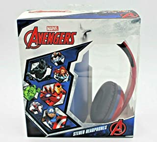 Marvel Avengers Sound Stereo Headphones, Adjustable & Foldable Headband, 3.5Mm Jack, Wired, Tangle-Free, Comfotable Ear Cushions