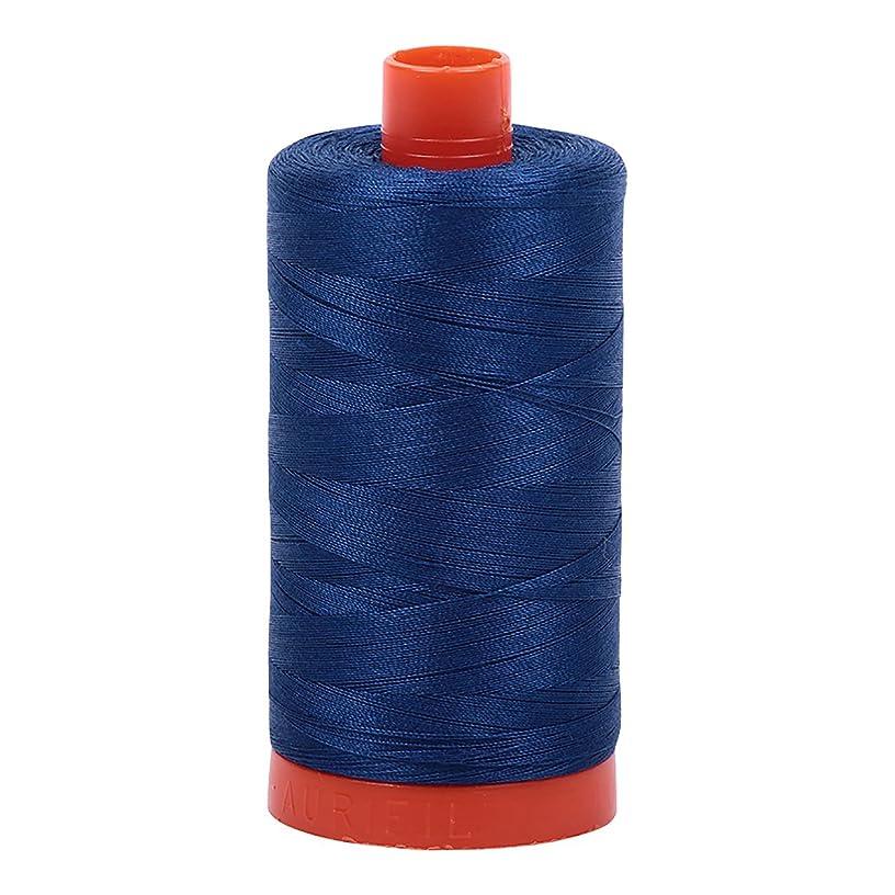 Aurifil Mako Cotton Thread Solid 50wt 1422yds Dark Delft Blue