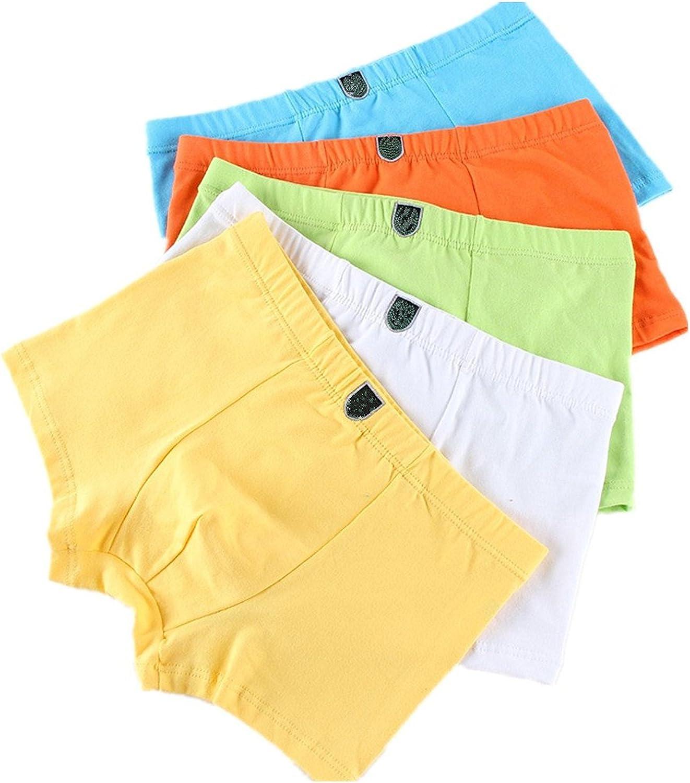 Yzjcafriz Boys' Underwear Cotton Boxer Briefs Comfortable Underclothes 5-Pack