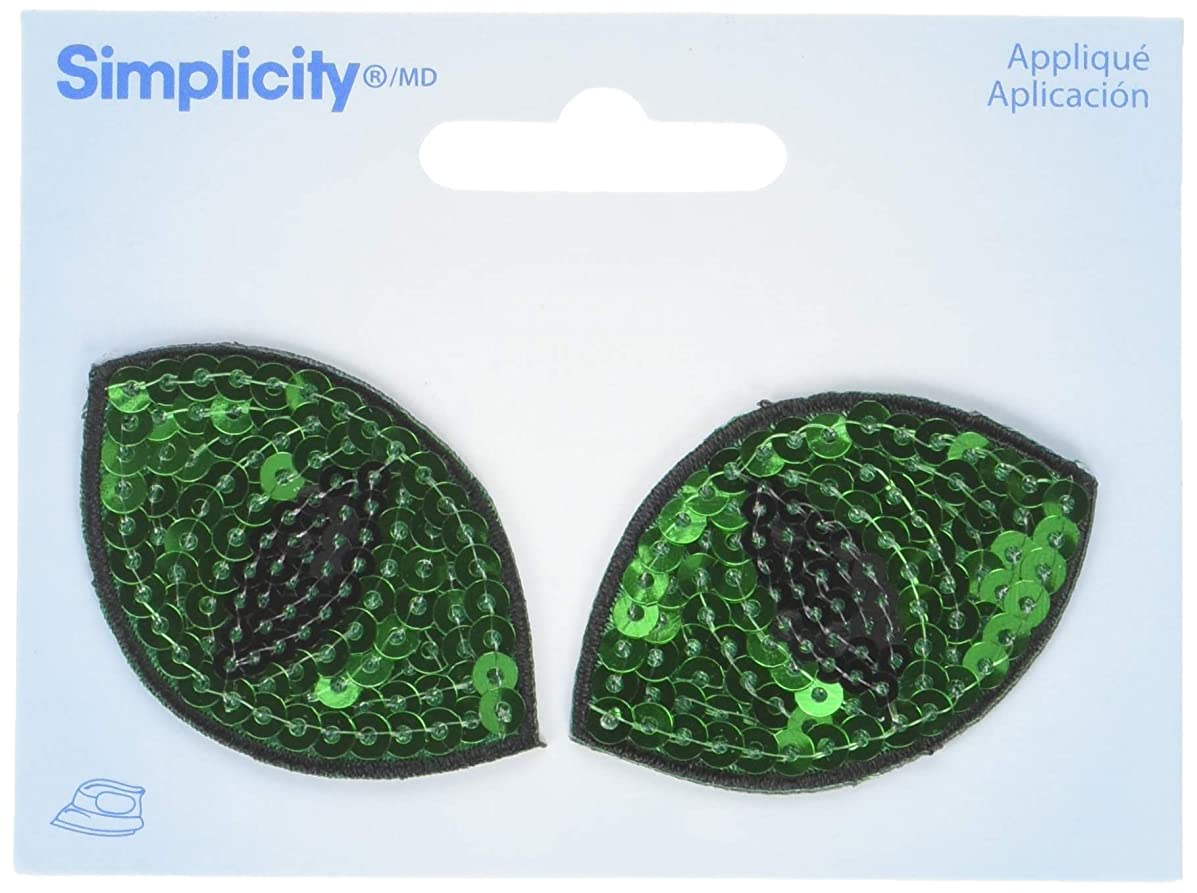 Wrights Cat Eyes Sequin Iron-On Appliques 2/Pkg