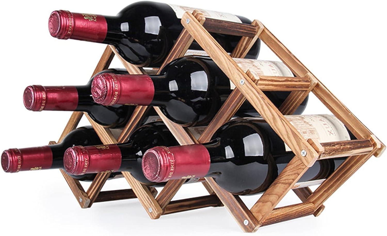 Many popular brands TNFXKGVNE Wine Rack Max 60% OFF Wooden Folda Racks Countertop Storage
