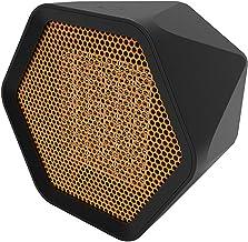 WILLQ Calefactor eléctrico Portátil Calefactor Portátil Mini Funciones Ajustables Termostato Regulable 600w para Uso en Interiores de Escritorio Oficina Dormitorio