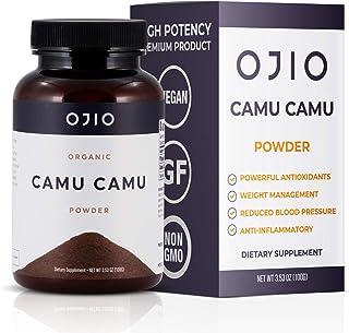 Ojio Organic Camu Camu Powder - Organic Berry Powder Packed with Vitamin C, Antioxidants - USDA Certified Organic Raw, Veg...