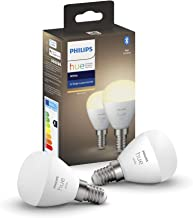 Philips Hue White 2-Pack Luster P45 E14 White 2-Pack Luster P45 E14, Smart Bulb, White, Bluetooth/Zigbee, LED, E14, Warm W...