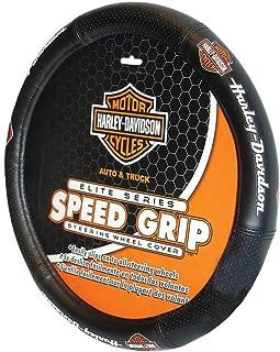 Plasticolor 006733R01 Black Steering Wheel Cover (Harley Elite Series Speed Grip)