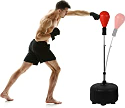 Punchingball Premium boksstand I in hoogte verstelbare staande bokstrainer incl. bokspop 110-150 cm I box standaard staand...