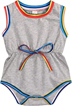 GRNSHTS Newborn Baby Boys Girls Stripe Sleeveless Romper Black and White One Piece Bodysuit