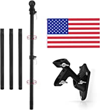 Yeesun Flag Pole Kit,6.1 Foot American Flag Pole & Bracket-Flagpoles for 3 x 5 Flags Holder for Home Porch & Outdoor,Tangl...