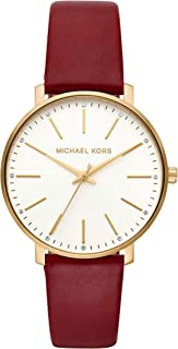Michael Kors Women's MK2749 Michael Kors Pyper Red Analogue Wrist Watch, Red, Medium