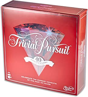 Trivial Pursuit - 40th Anniversary Edition - Celebrate The Last 40 yrs - 2 to 6 Players - Adult Board Games - Ages 16+