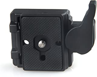 Konsait Black Camera 323 Quick Release Plate with Special Adapter (200PL-14) use for Manfrotto 323(New Version)