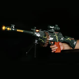 Fun Central AT754 LED Camo Sniper Rifle, LED Light Up Rifle, LED Camo Sniper Rifle, Kids LED Rifle - for Party Favors, Gifts, Prizes, Rewards