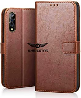SHINESTAR PU Leather Flip Wallet Case with TPU Shockproof Cover for Vivo Z1x (Classic Brown, Vivo Z1x)