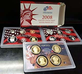 2008 U.S. Mint Silver Proof Set Set Uncirculated