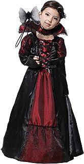 GIFT TOWER Déguisement Vampire Fille - Costume de Déguisement Comtesse Gothique Dame Halloween Cosplay Costume Théâtre Fêt...