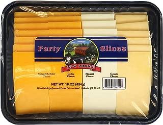 New Bridge Sliced Cheese Entertaining Flight, Sharp Cheddar/Colby/Havarti/Gouda, 16 oz