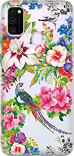 Cekuonline Samsung Galaxy M30s Kılıf Desenli Esnek Silikon Telefon Kabı Kapak - Kuş Cenneti