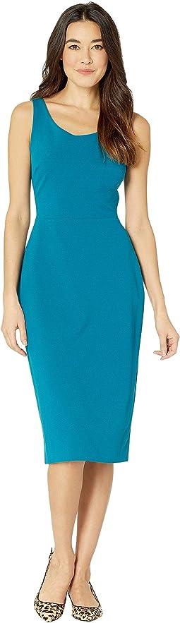 Scuba Crepe Midi Dress