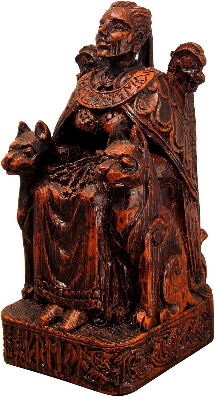 Seated Norse New product type Goddess trust Freya Wood Statue Finish
