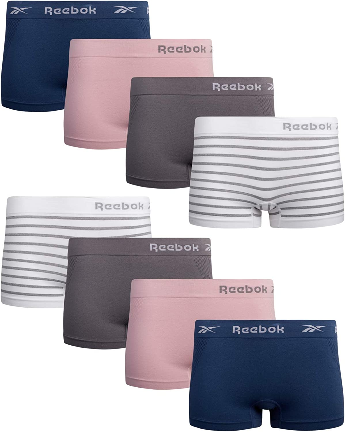 Reebok Women's Be super welcome Underwear - Seamless Pack Boyshort Free shipping anywhere in the nation 8 Panties