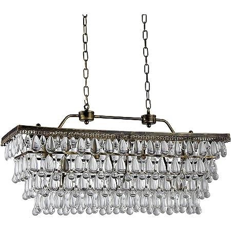 Warehouse Of Tiffany D6607 4a Jaden 4 Light Crystal 30 Inch Bronze Chandelier Grey Amazon Com
