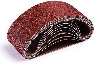 comprar comparacion TACKLIFE Bandas de Lija, 10PCS 75x457mm Papeles de Lija, Banda Abrasiva 2x40/60/80/120/180 Granos, Lijadora de Banda ASB01A