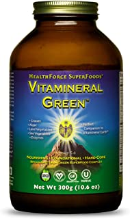 HealthForce SuperFoods Vitamineral Green Powder - 300 Grams - All Natural Green Superfood Complex with Vita...