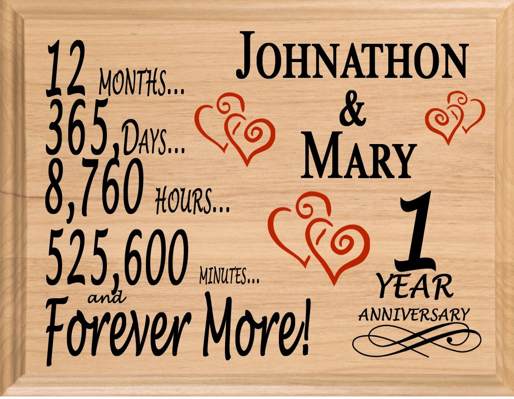 Broad Bay 1 Year Anniversary Sign Personalized Anniversary for Him Her or Couple  sc 1 st  Amazon.com & 1 Year Anniversary Gifts for Boyfriend: Amazon.com