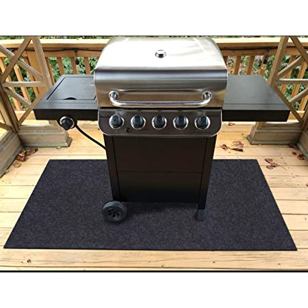 Amazon Com Gas Grill Mat Premium Bbq Mat And Grill Protective Mat Protects Decks And Patios From Grease Splashes Absorbent Material Contains Grill Splatter Anti Slip And Waterproof Backing Washable 36 X 36 Garden Outdoor