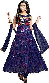 SAI FASHION Women's Net Silk Gerogette Embroidered Semi-Stitched Salwar Suit(free size)……