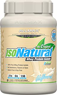 ALLMAX Nutrition Isonatural Whey Protein Isolate, Unflavored, 2 lbs