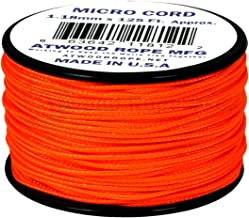 product image for Neon Orange MS17 1.18mm x 125' Micro Cord Paracord Made in the USA