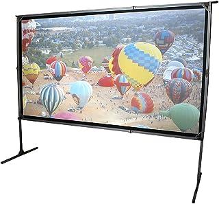 Elite Screens OMS180H2-DUAL mobiele tuin canvas Yard Master 2 Dual 399 outdoor projectie scherm zwart