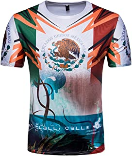 eb636c509 Mexican Football T-Shirt Men's Short Sleeve Funny Jersey Tees