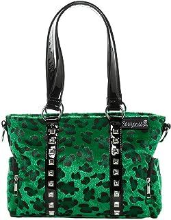 Sourpuss Leopard Mini Leda Stud Purse Green
