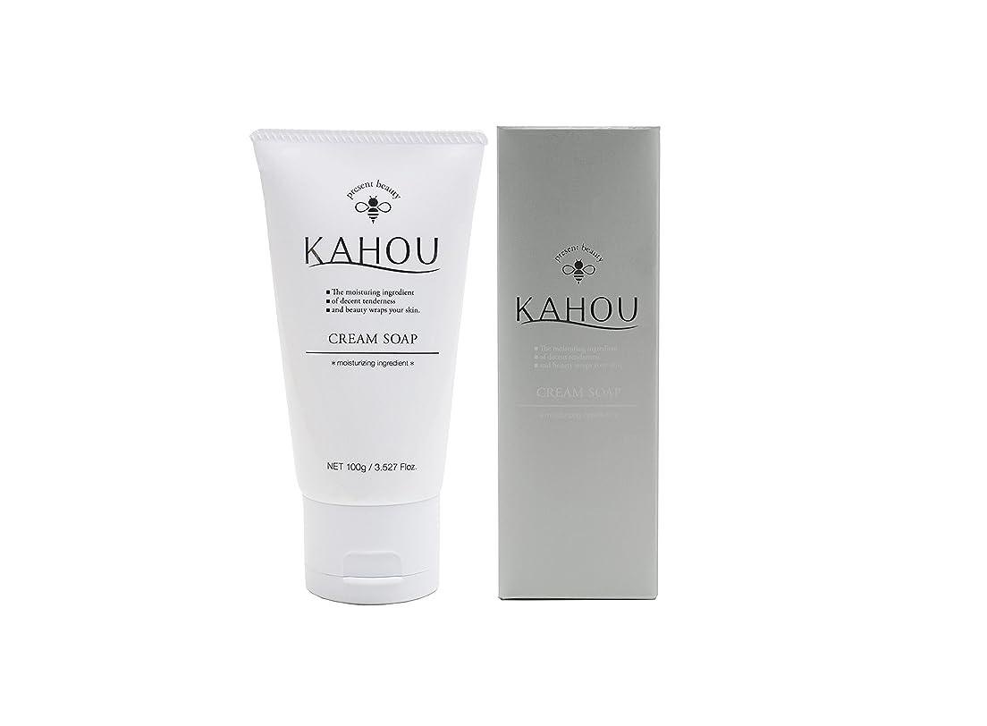 保有者エコー一時的KAHOU はちみつ配合クリームソープ 100g