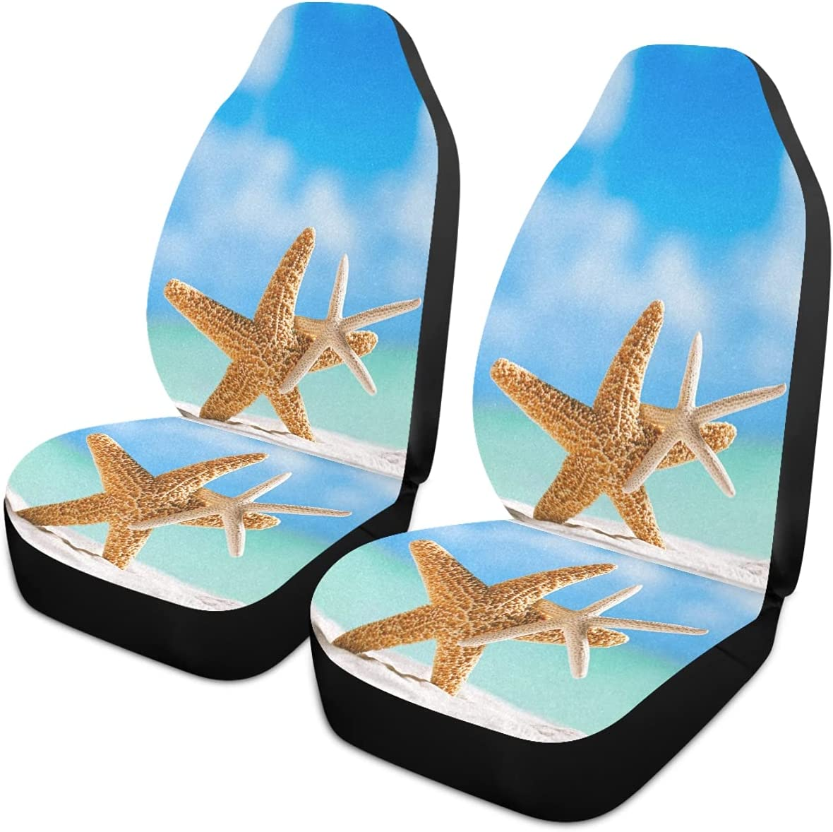 Oarencol Summer Starfish Beach Ranking TOP4 Sandy Universal Car Columbus Mall Covers Seat A