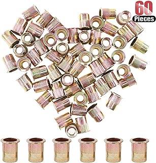 Hilitchi 60 Pcs 3/8-16 UNC Rivet Nuts Threaded Insert Nut (3/8-16 UNC Rivnut)