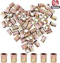 Hilitchi 60 Pcs 3/8-16 UNC Rivet Nuts Threaded Insert Nut (3/8-16 UNC Rivnut)