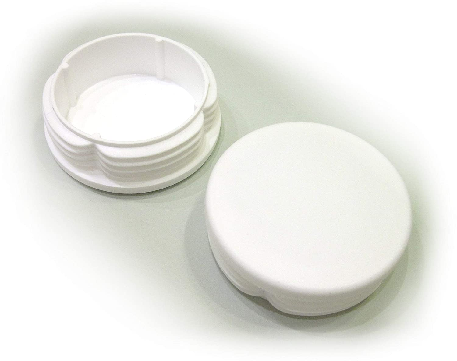 2 1/4 Inch Round Plastic End Cap (for Hole Size from 2 1/32 to 2 5/32, Including 2 1/8 inches), Cover for Steel Fence Post, Furniture Finishing Plug (White, 2)