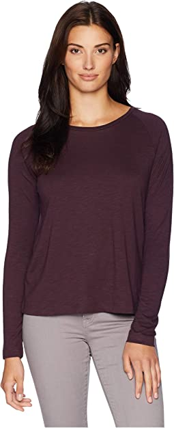 Long Sleeve Pleat Back Tee