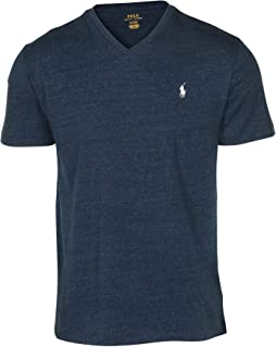 b795e28b84e Polo Ralph Lauren Men s Classic Fit V-Neck T-Shirt-Blue Eclipse-