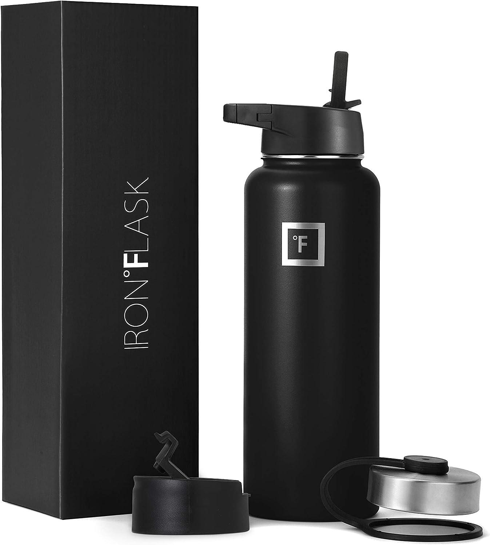 Iron Flask Sports Water Bottle - 64 Weekly Purchase update Lid Straw Vacuu Lids 3 Oz