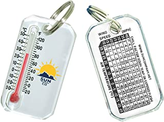 Sun Company Original Zip-o-gage - Zipper-Pull Thermometer for Jacket, Parka, or Backpack | Outdoor Mini Weather Key Chain ...